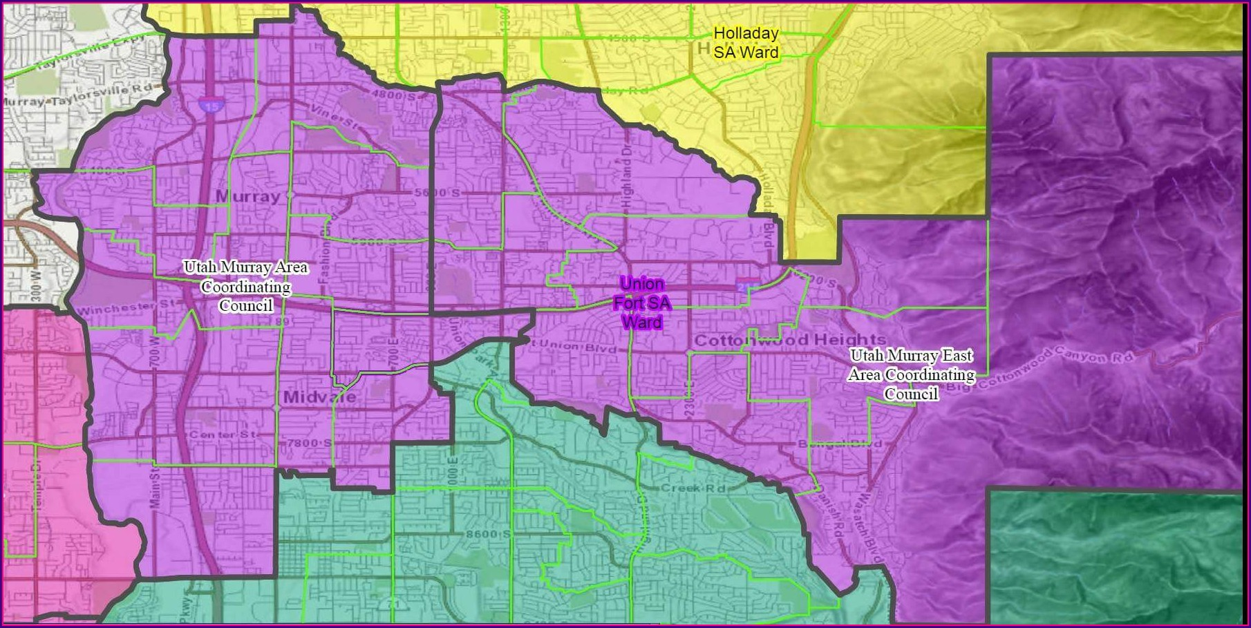 Lds Church Map Of Ward Boundaries