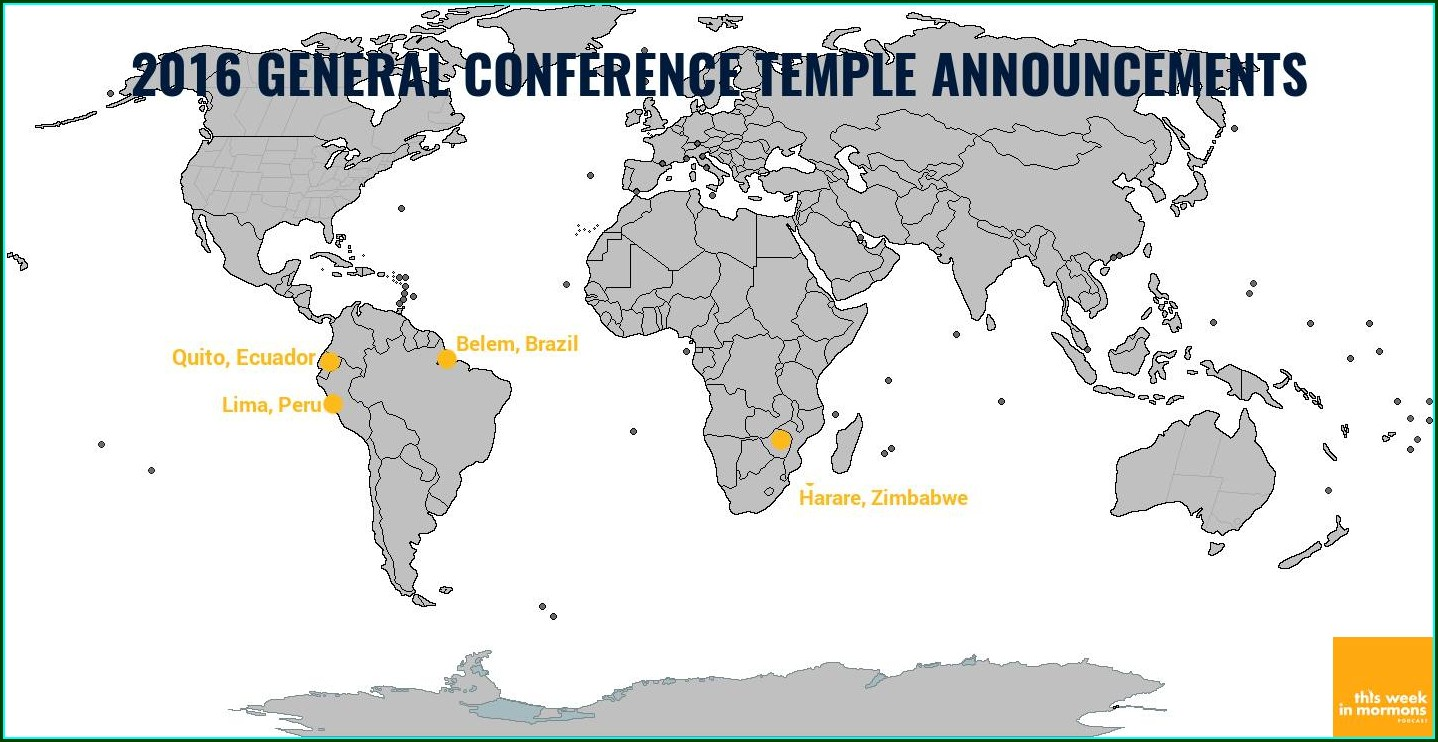Lds Temple Locations Map