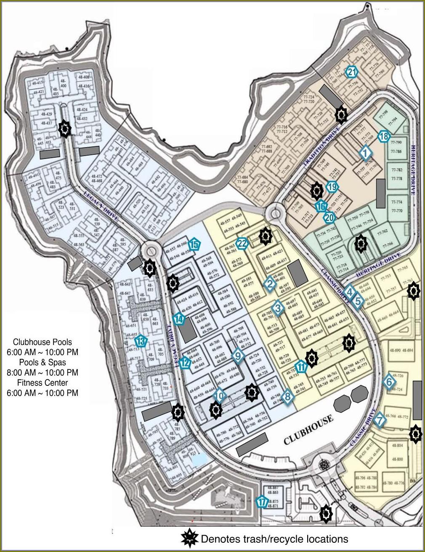 Legacy Villas La Quinta Map
