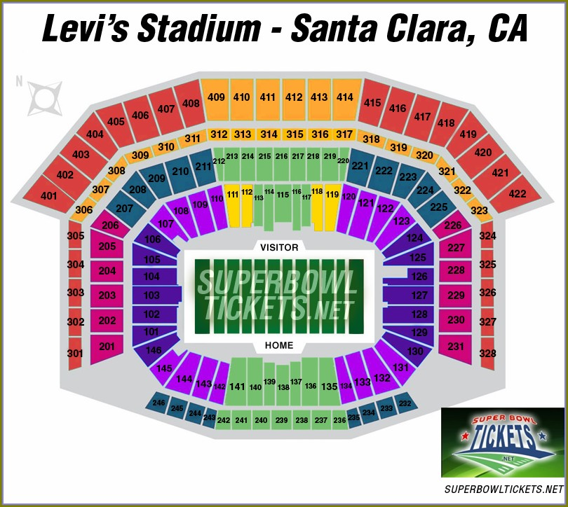 Levis Stadium Concert Seating Map