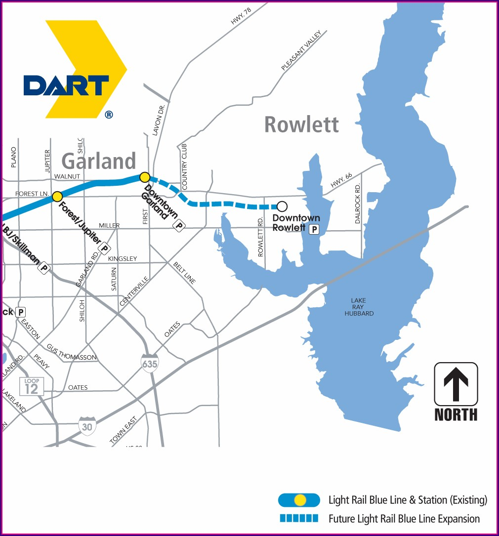 Light Rail Blue Line Map