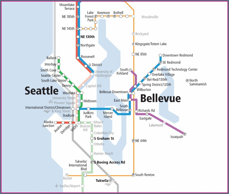 Light Rail To Seatac Airport Map