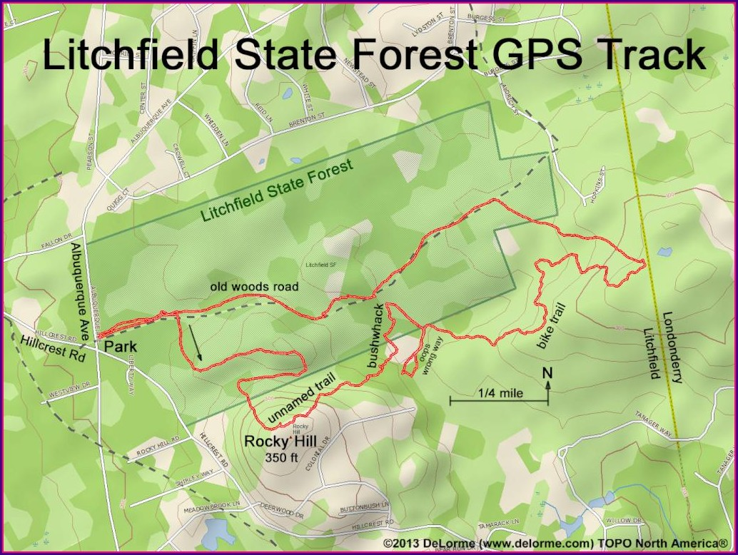 Litchfield State Forest Trail Map