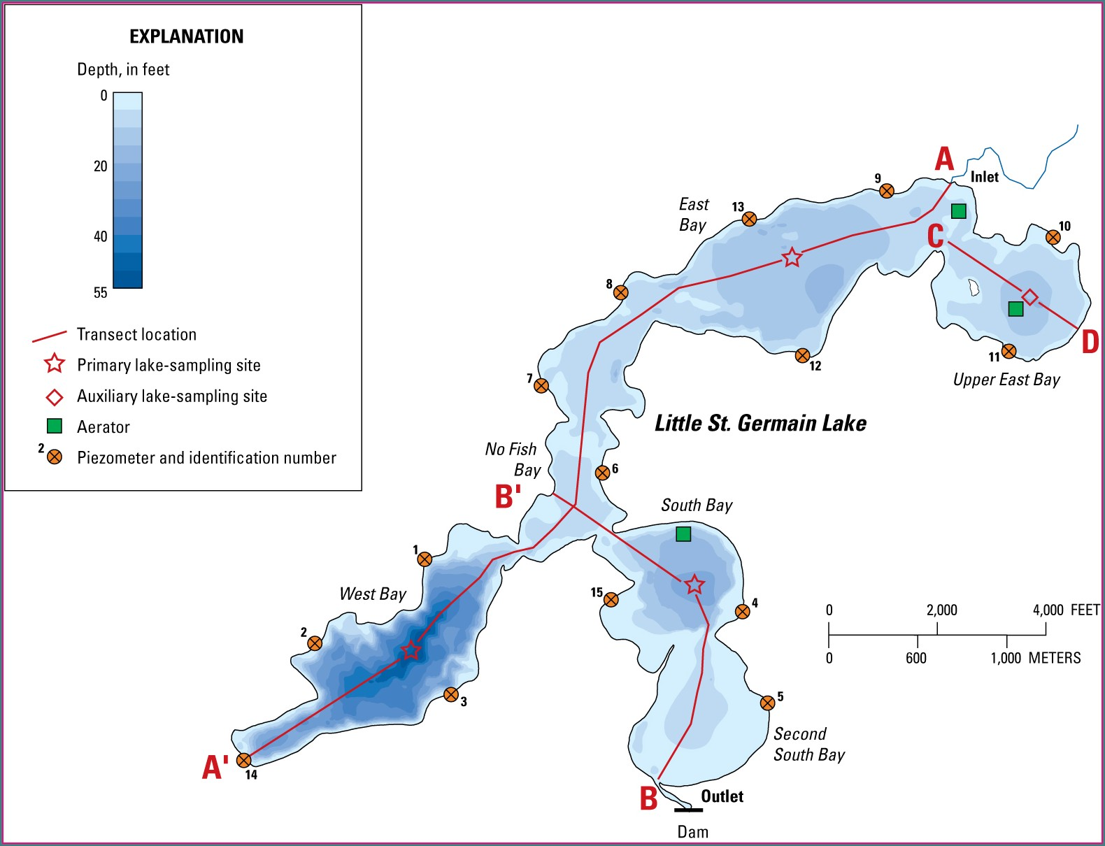 Little St Germain Lake Map