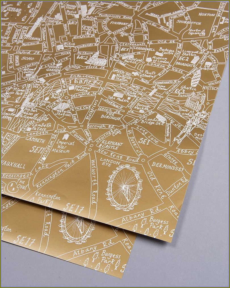 London Map Wrapping Paper
