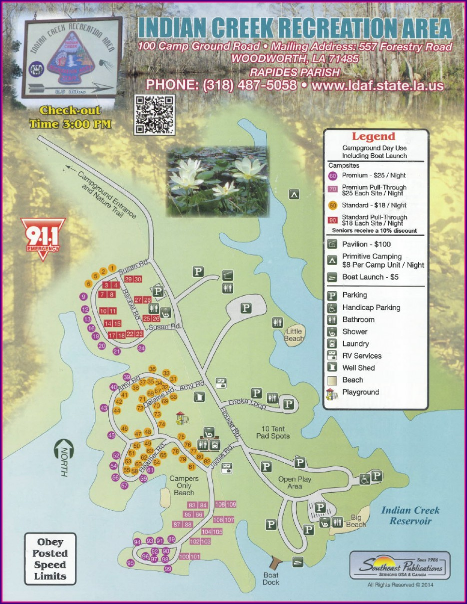 Louisiana State Campgrounds Map