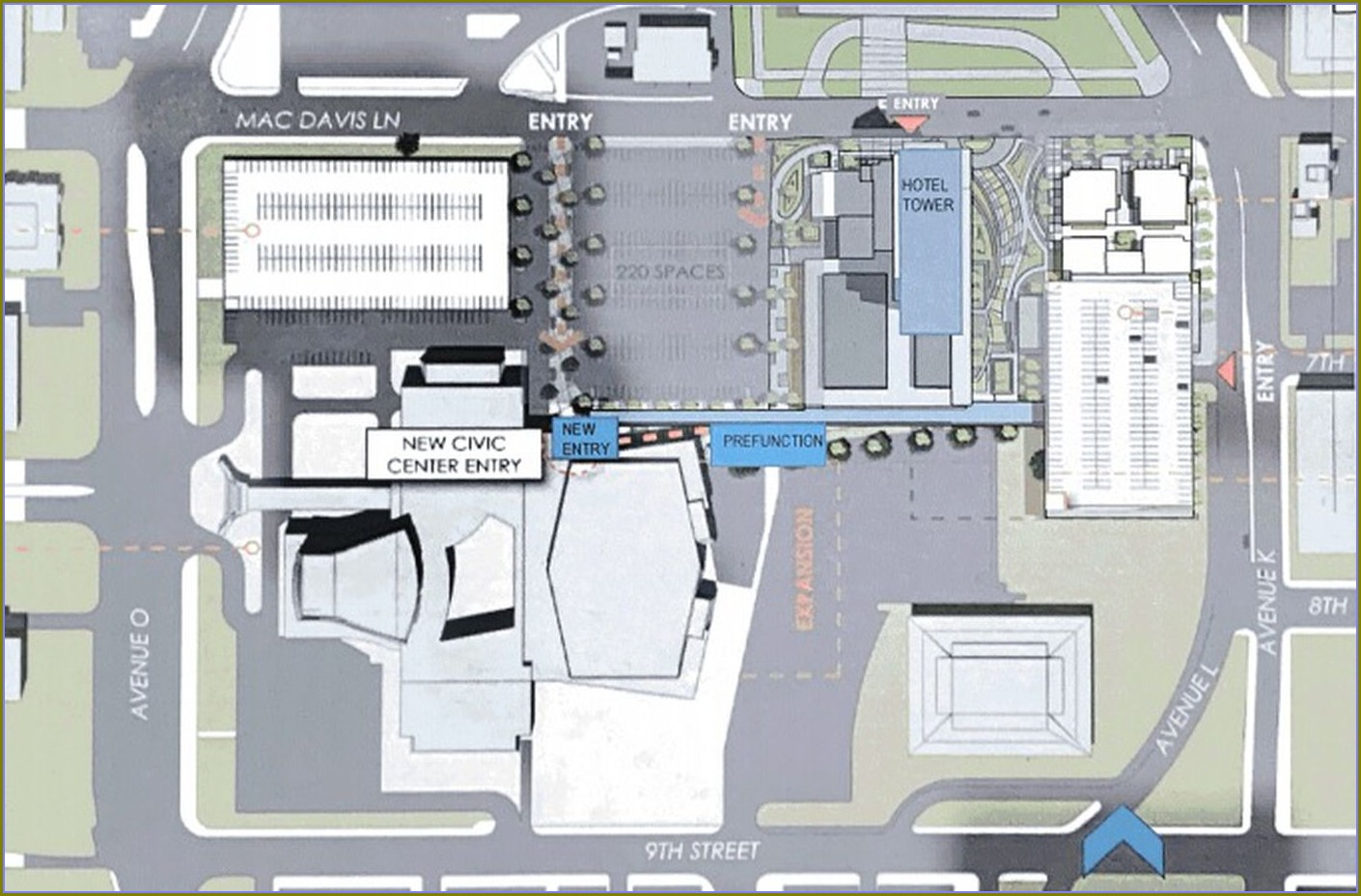Lubbock Civic Center Map