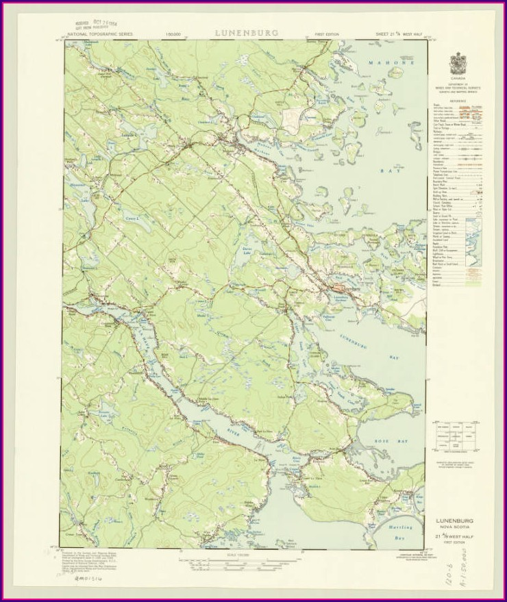 Lunenburg Nova Scotia Map