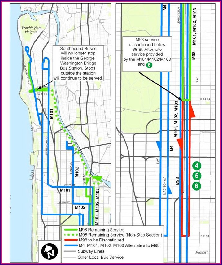 M101 Bus Route Nyc Map
