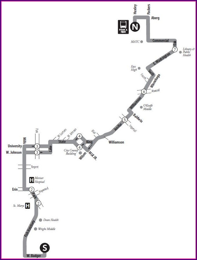 Madison Wi Bus Routes Map