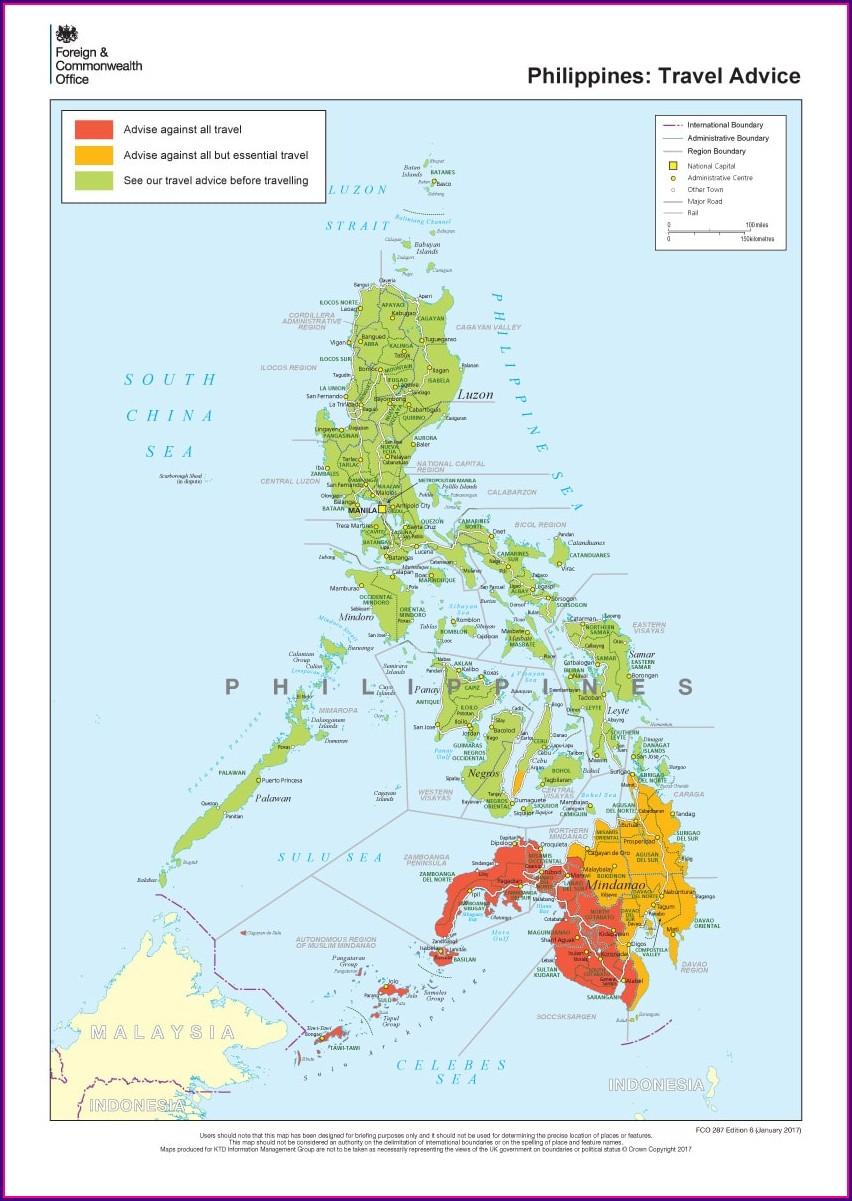 Malaria Map Philippines 2018