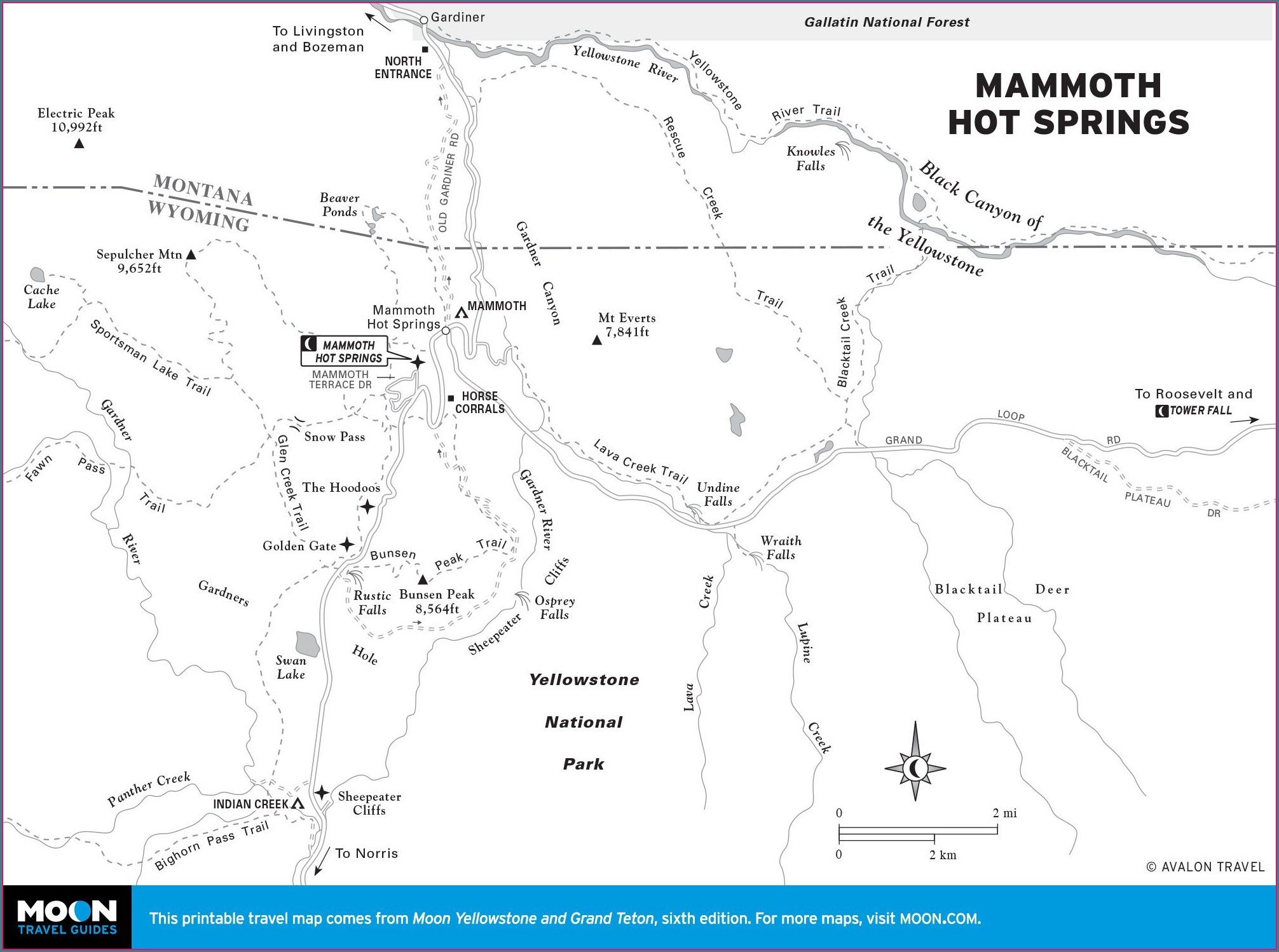 Mammoth Hot Springs Yellowstone Map