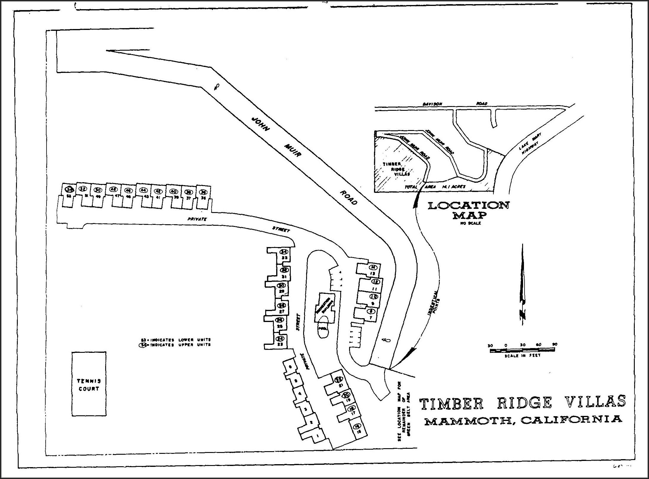 Mammoth Mountain Condo Map