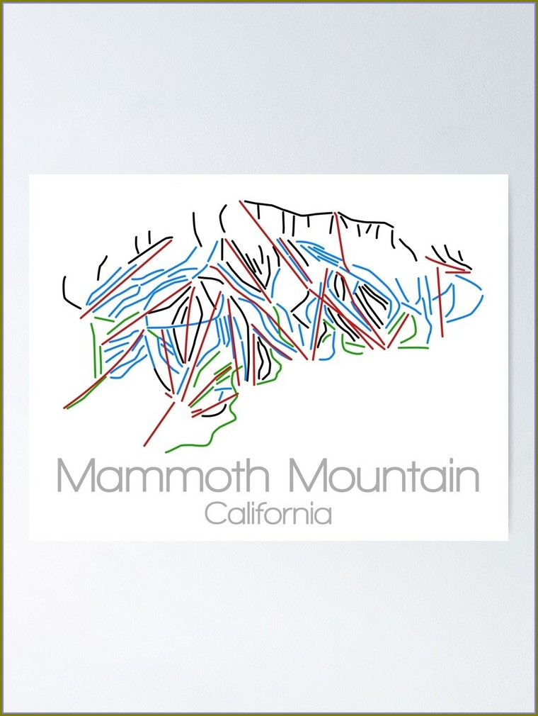 Mammoth Mountain Map Poster