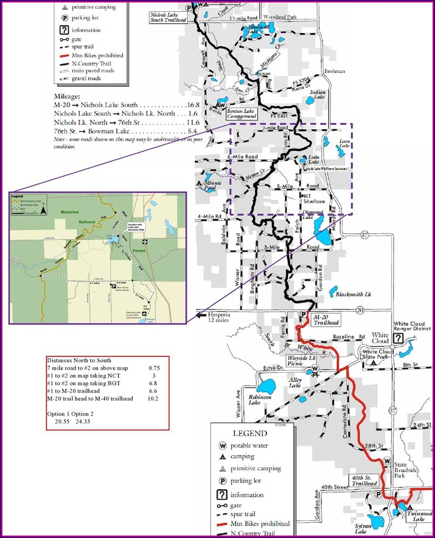 Manistee River Trail Map Pdf