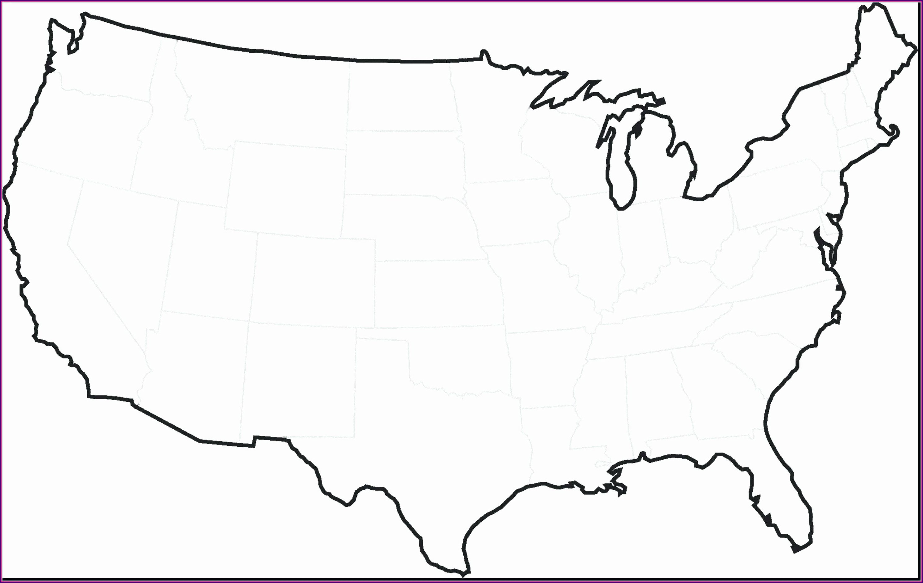 Map Coloring Pages For Kindergarten