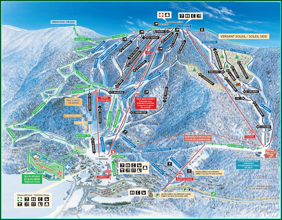 Map Mont Tremblant Ski Resort