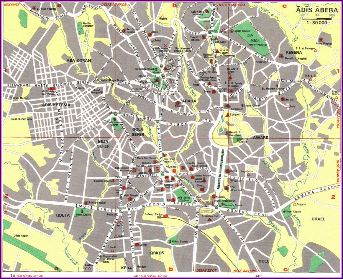 Map Of Addis Ababa Sub Cities Pdf