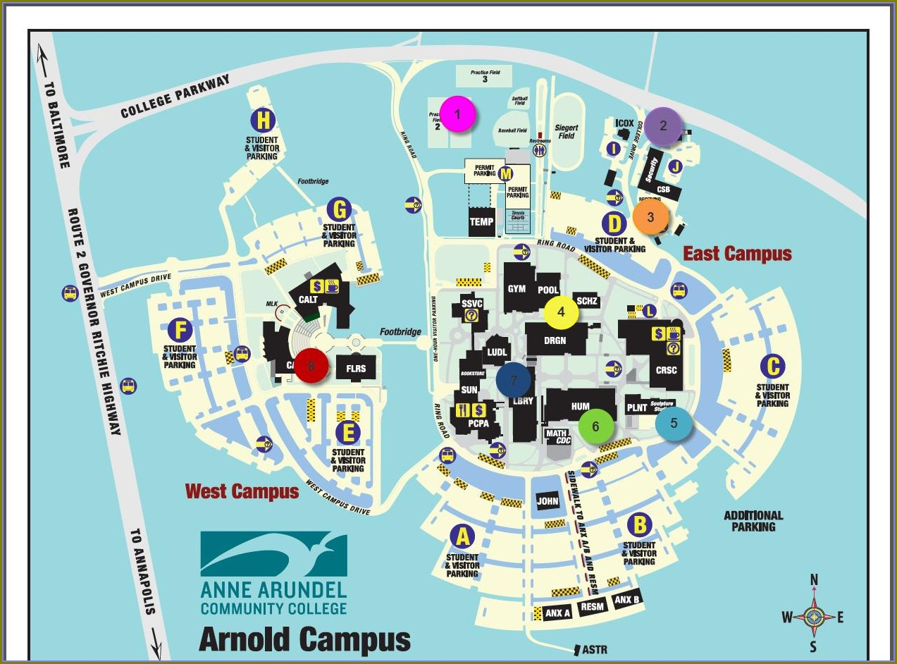 Map Of Anne Arundel Medical Center