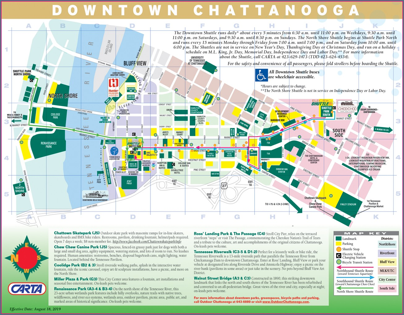 Map Of Chattanooga Hotels