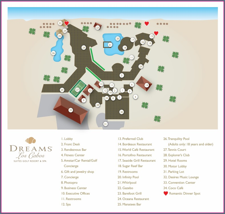 Map Of Dreams Resorts In Mexico