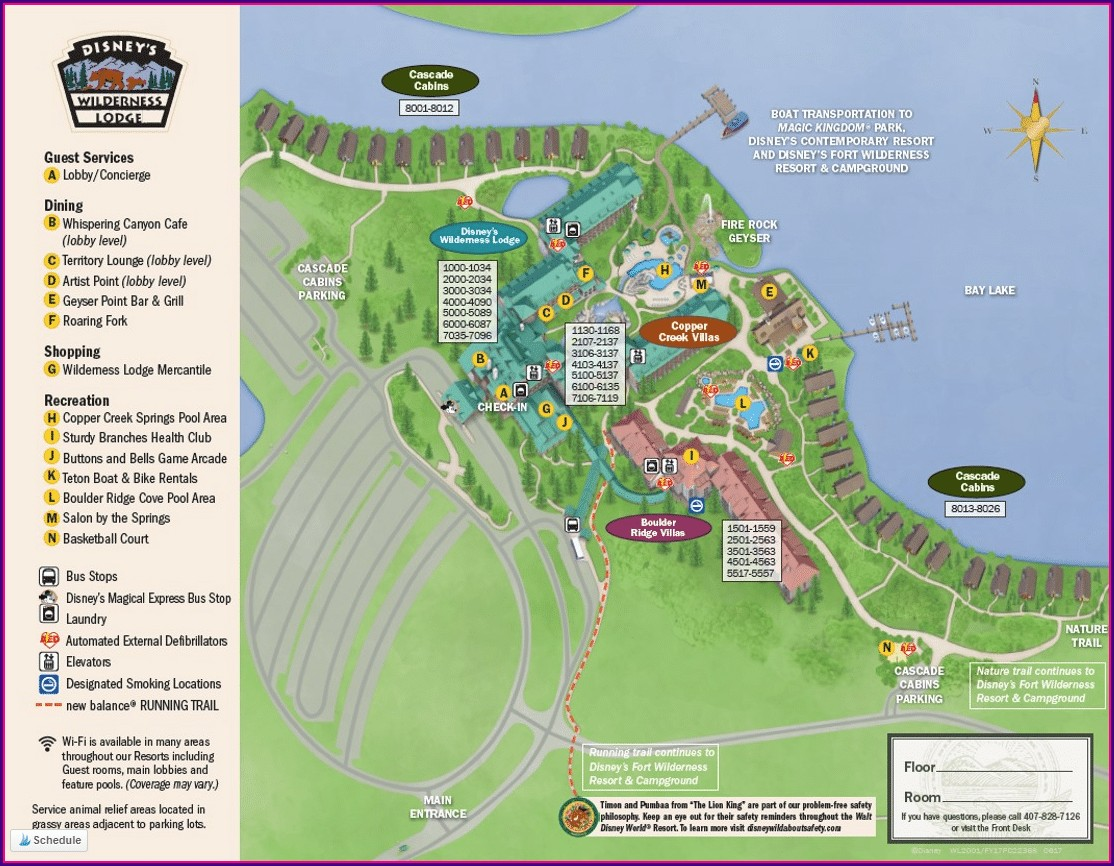 Map Of Fort Wilderness Lodge Disney