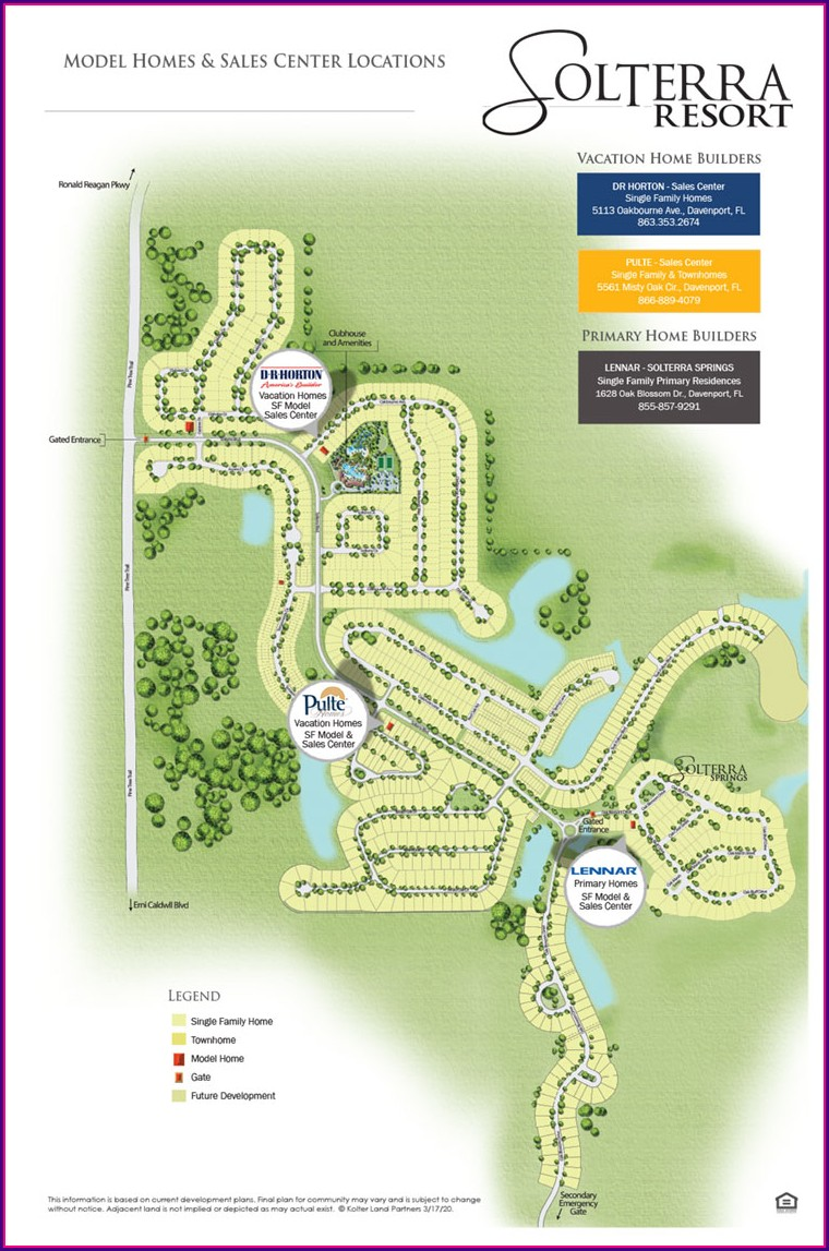 Map Of Gated Communities In Orlando