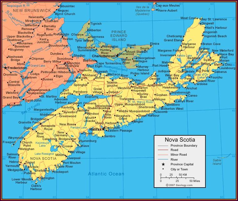Map Of Glace Bay Nova Scotia