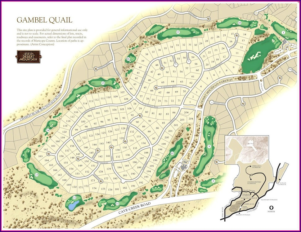 Map Of Golf Courses In Scottsdale Az