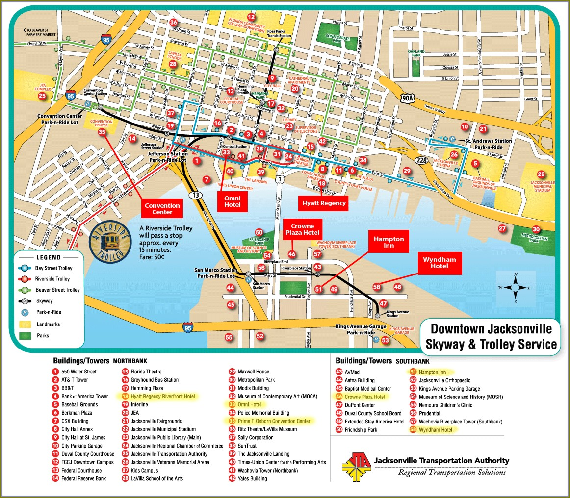 Map Of Hotels In Jacksonville Fl