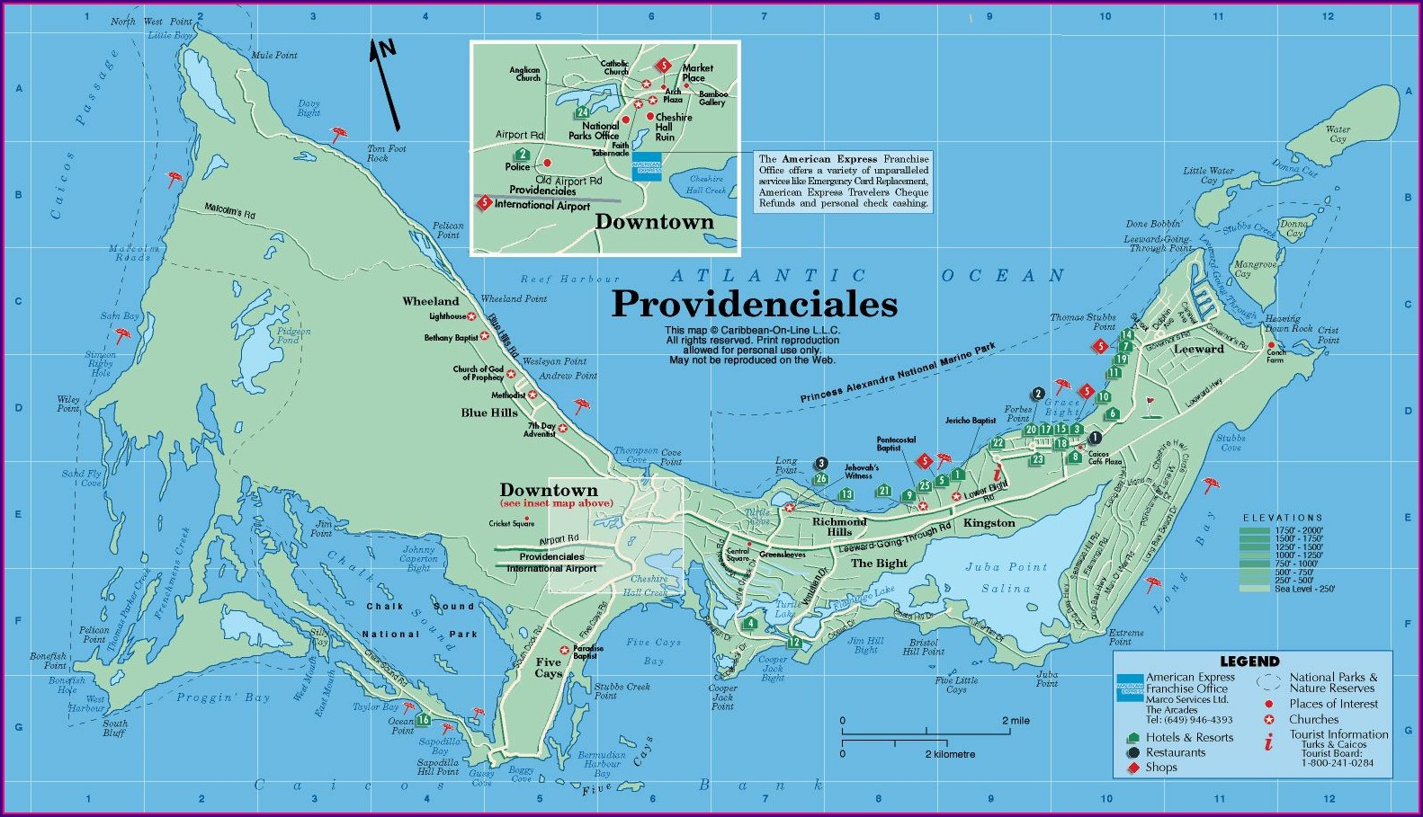 Map Of Hotels In Providenciales