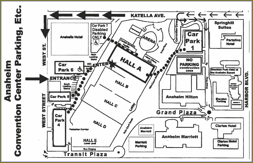 Map Of Hotels Near Anaheim Convention Center