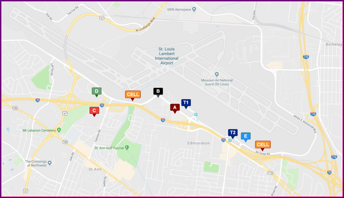 Map Of Hotels Near St Louis Airport