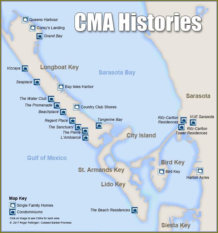 Map Of Longboat Key Condos