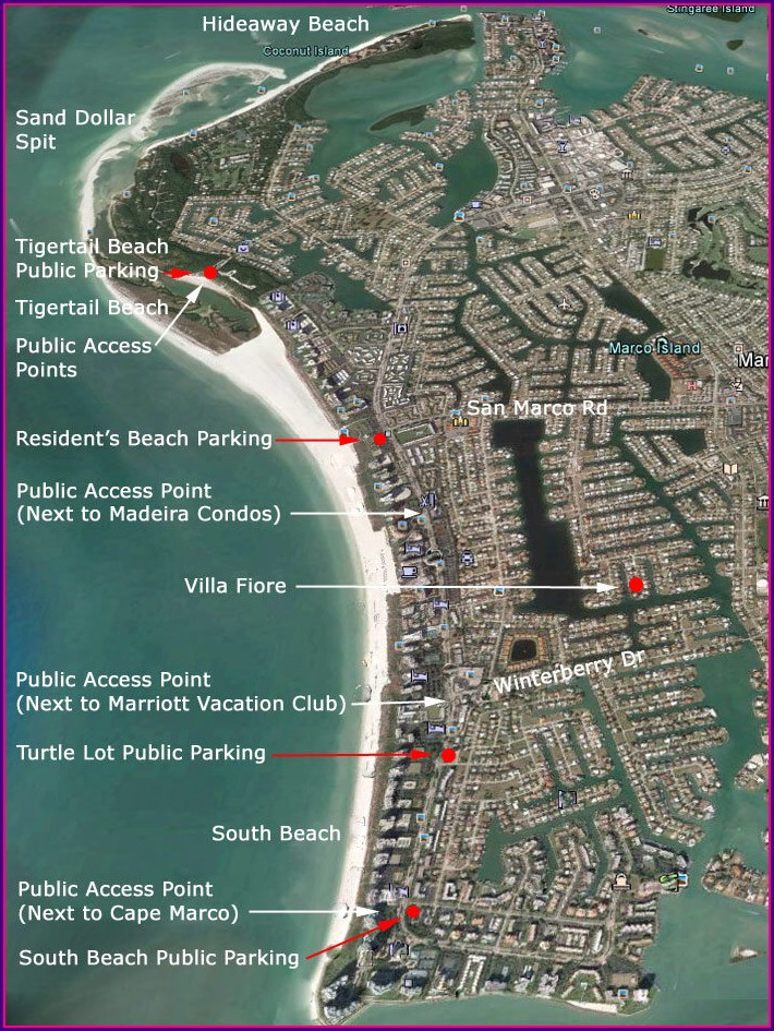 Map Of Marco Island Hotels