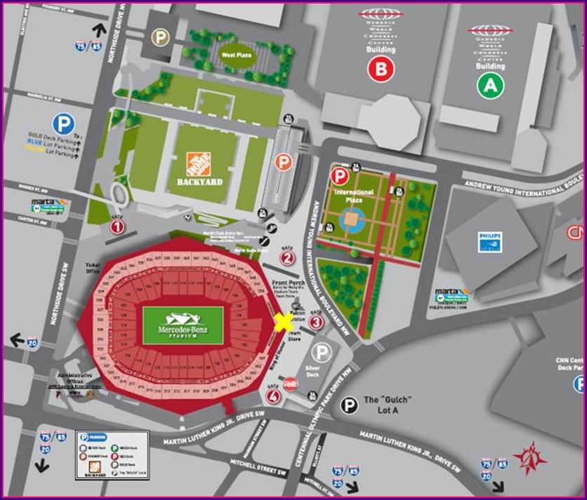 Map Of Mercedes Benz Stadium Atlanta Ga