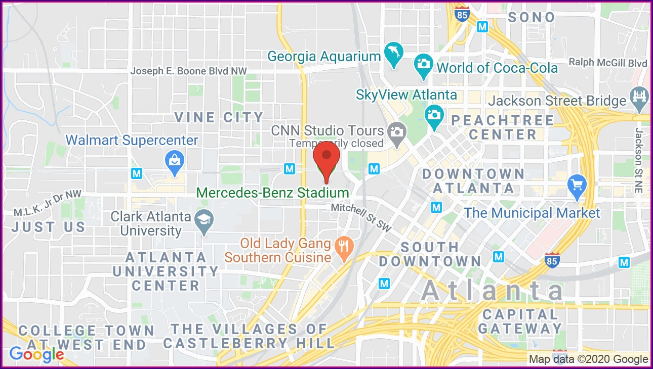 Map Of Mercedes Benz Stadium Atlanta