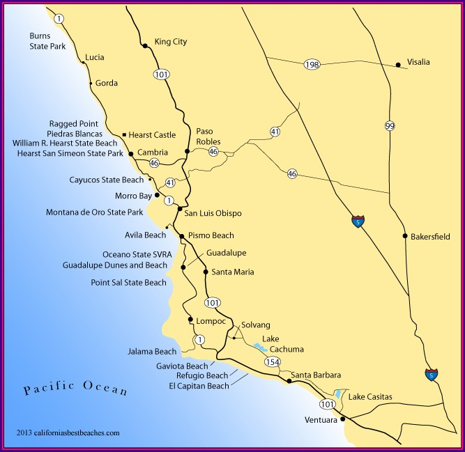 Map Of Morro Bay Hotels