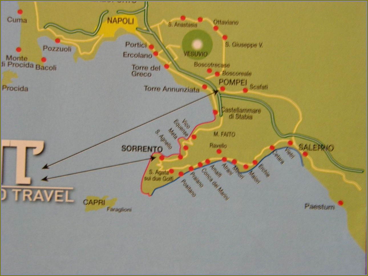 Map Of Mount Vesuvius And Pompeii