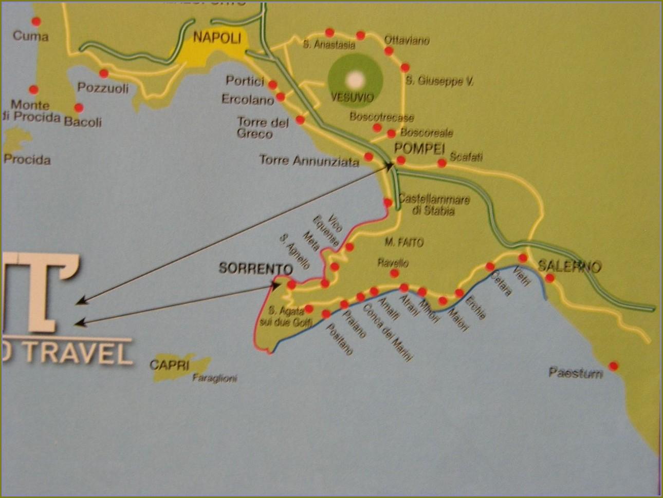 Map Of Mount Vesuvius And Pompeii