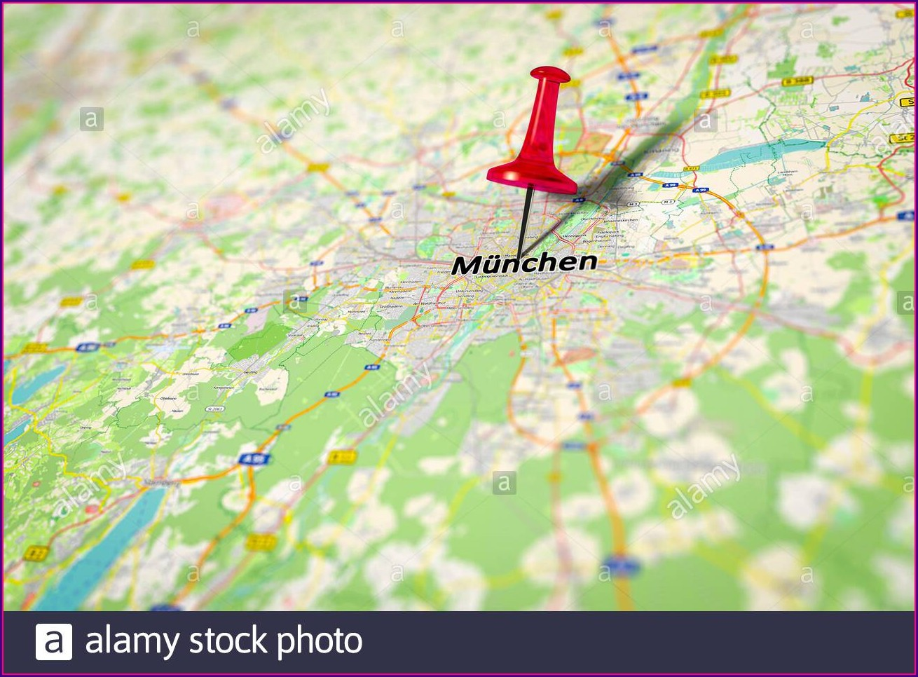 Map Of Munich And Surrounding Areas