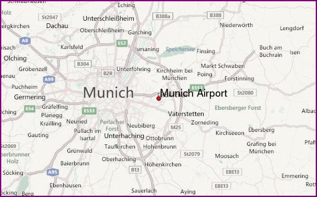 Map Of Munich Germany And Surrounding Area