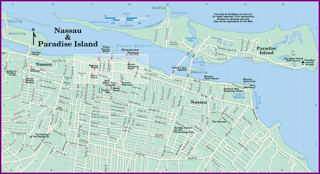 Map Of Nassau Bahamas Resorts