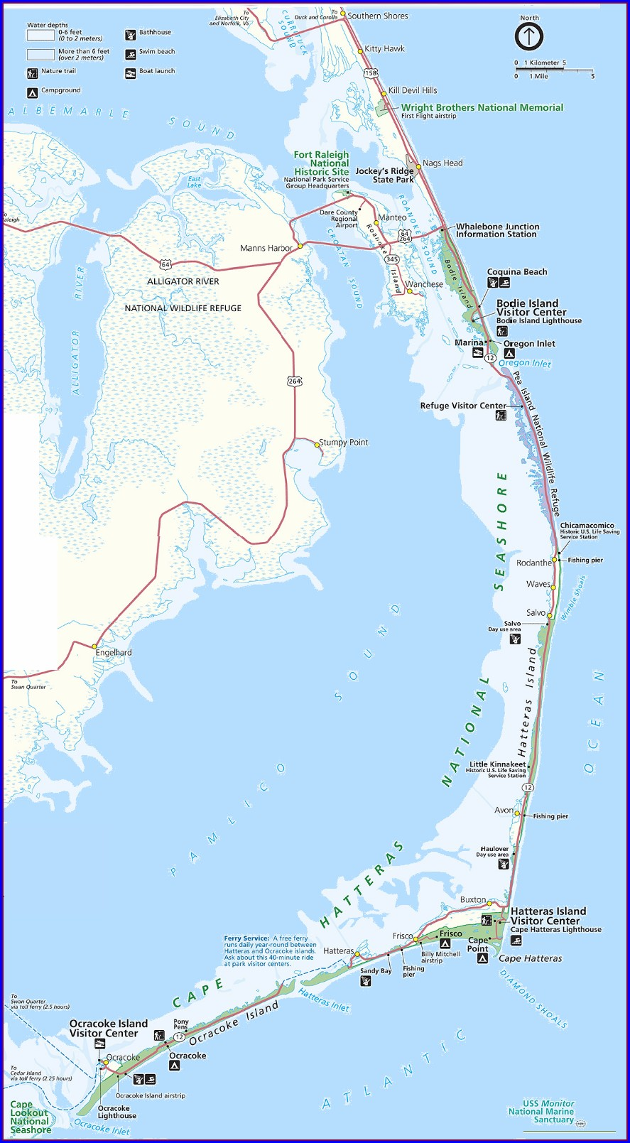 Map Of Obx Nc