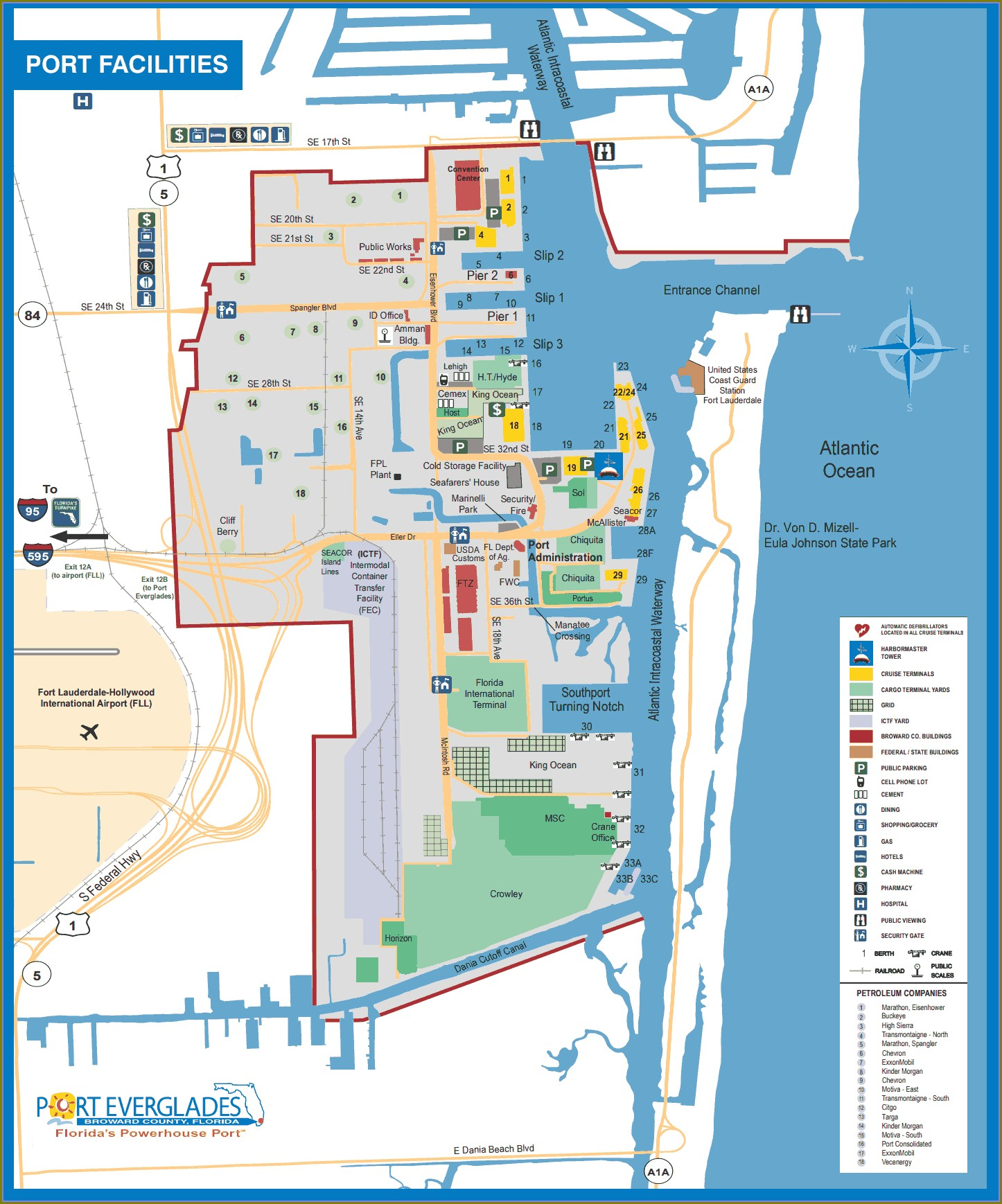 Map Of Port Everglades Hotels