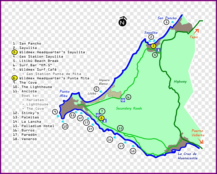 Map Of Punta Mita Hotels