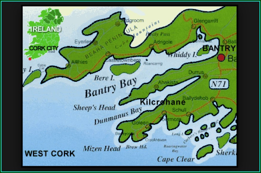 Map Of Sheeps Head Peninsula