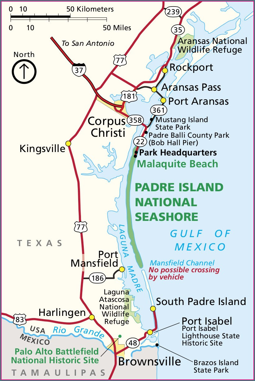 Map Of South Padre Island Condos