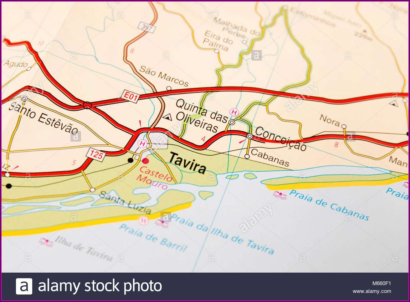 Map Of Tavira Algarve Portugal