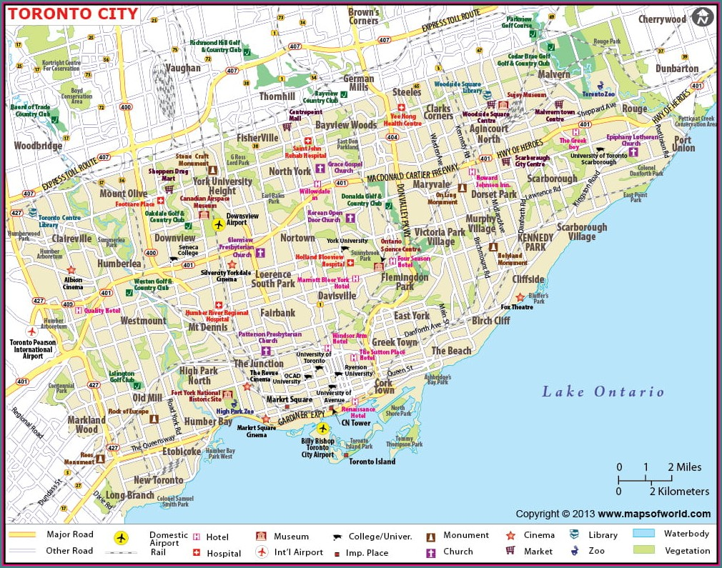 Map Of Toronto Airport Hotels